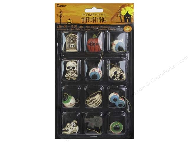 Darice Resin Ornaments 1 1/4 in. Halloween 12 pc.