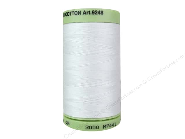 Mettler Silk Finish Cotton Thread 60 wt. 875 yd. #2000 White