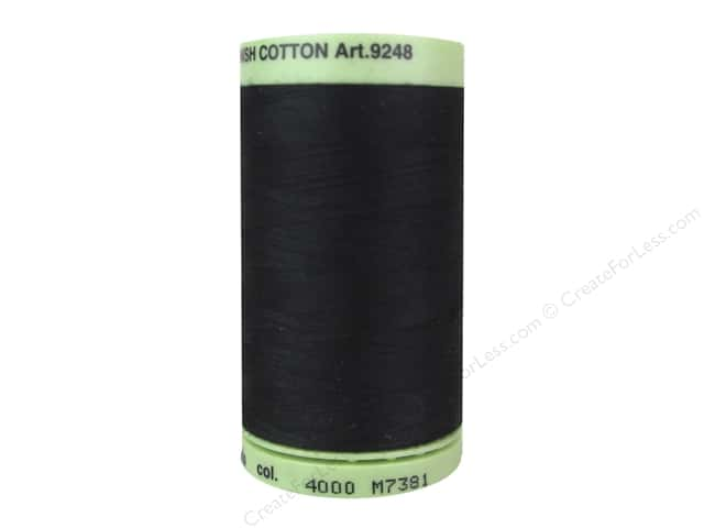 Mettler Silk Finish Cotton Thread 60 wt. 875 yd. #4000 Black