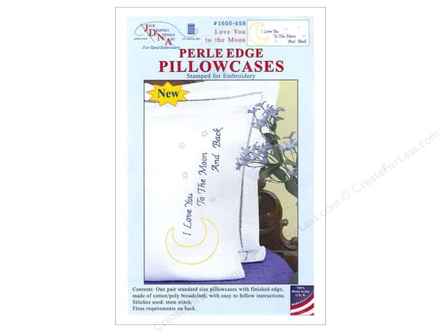 Jack Dempsey Pillowcase Perle Edge Love You To The Moon