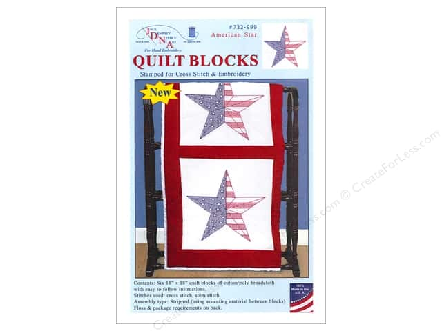 Jack Dempsey 18 in. Quilt Blocks 6 pc. American Star