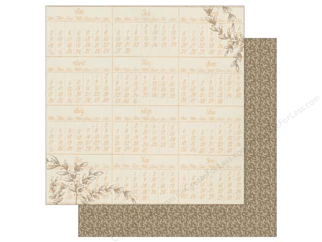 Authentique 12 x 12 in. Paper Nestled Prepared (25 sheets)