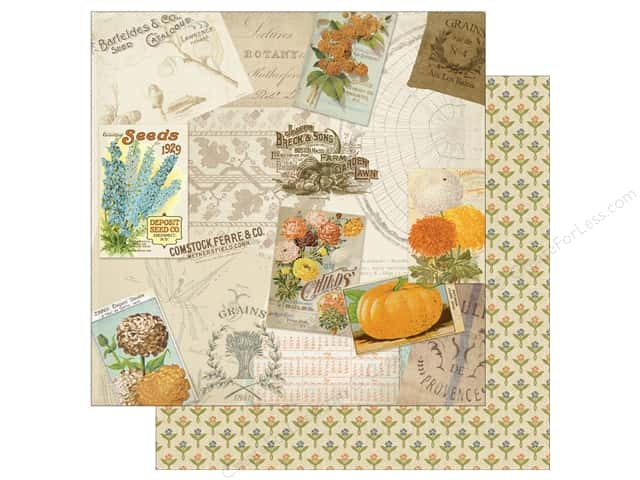 Authentique 12 x 12 in. Paper Nestled Tender (25 sheets)