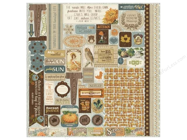 Authentique Stickers Nestled Details (12 sets)