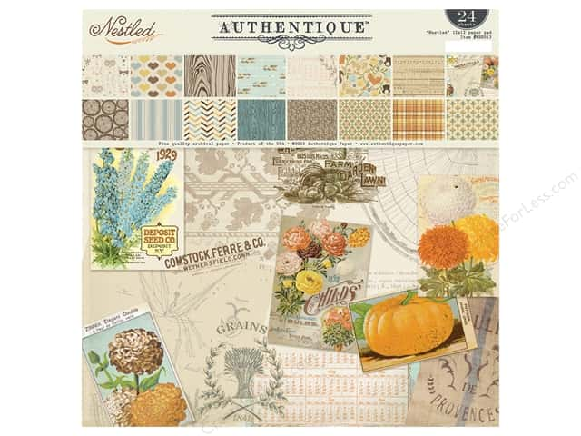 Authentique 12 x 12 in. Paper Pad Nestled Collection