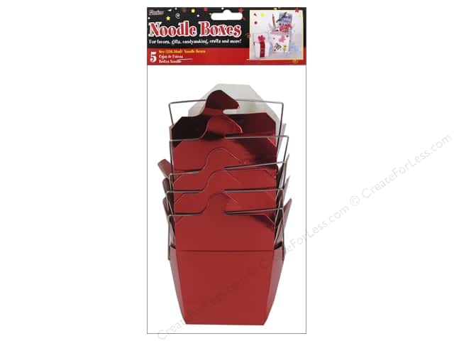 Darice Chinese Take-Out Small 8oz. Metallic Red 5 pc.
