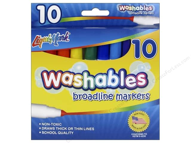 Liquimark Markers Set Broadline Washables 10pc