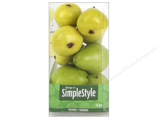 Floracraft SimpleStyle Decor Mini Pear Yellow/Green 9pc
