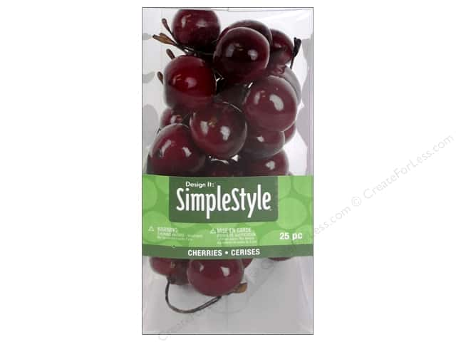Floracraft SimpleStyle Decor Mini Cherry 25pc