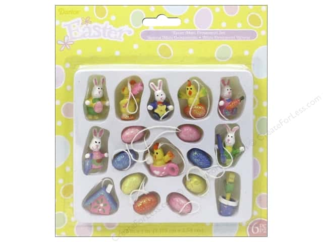 Darice Decor Easter Resin Egg Ornament Mini 18pc