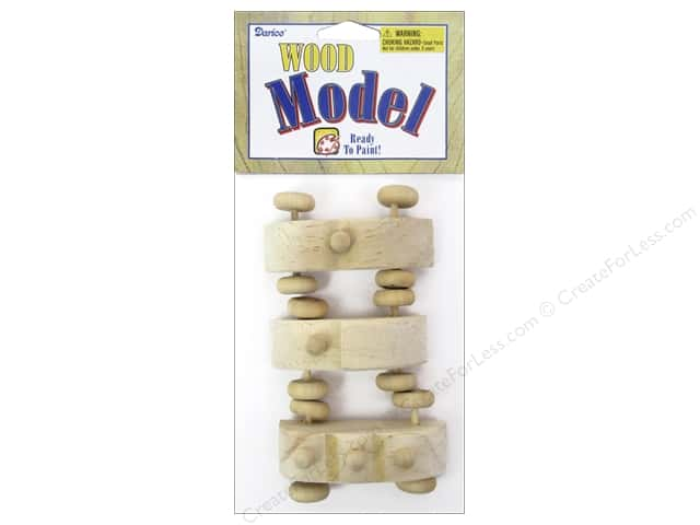 Darice Wood Model Mini Race Car Toys 2 3/4 in. 3 pc.