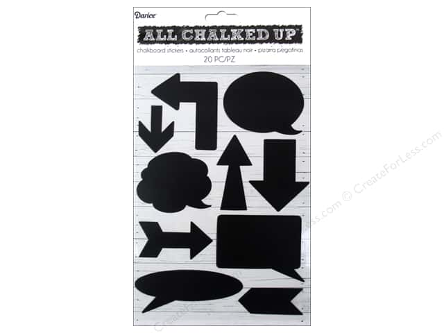 Darice Chalkboard Vinyl Tags 20 pc. Arrows & Conversation Bubbles