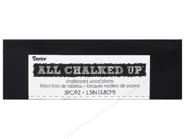 Darice Chalkboard Wood Blocks 3 pc.