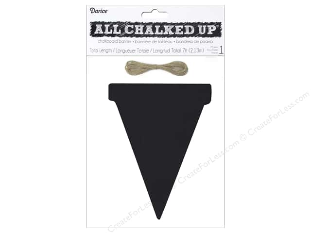 Darice Chalkboard Wood Pennant 8 in. Triangle