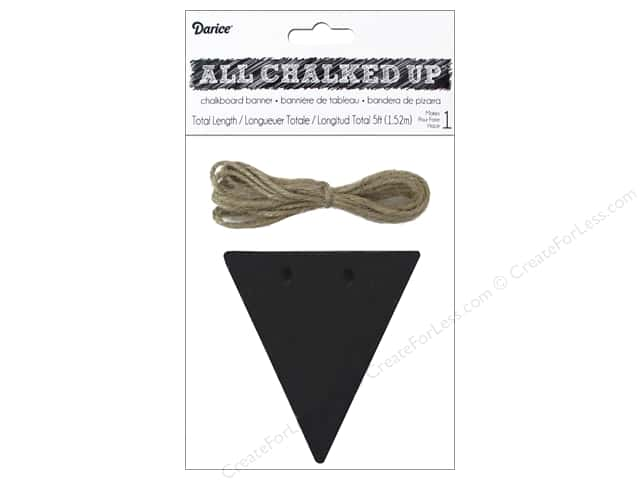 Darice Chalkboard Wood Banner 3 1/4 x 3 1/2 in. Triangle