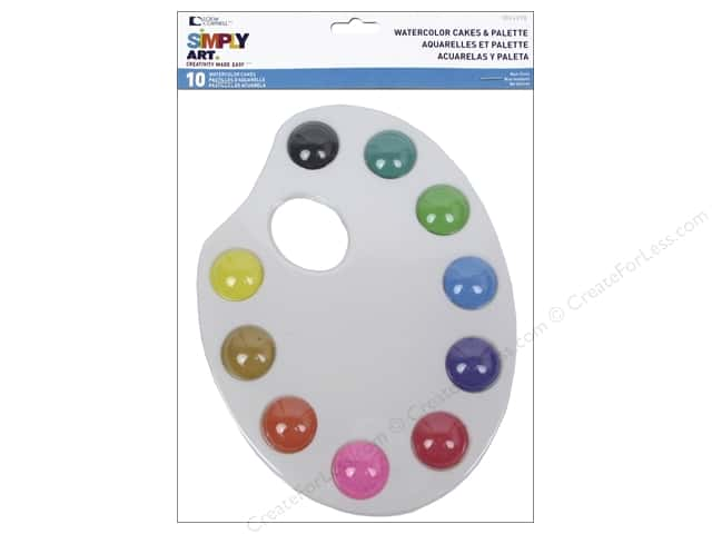 Loew Cornell Simply Art Watercolor Cakes & Palette