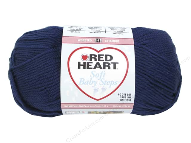 Red Heart Soft Baby Steps Yarn #9851 Navy 256 yd.