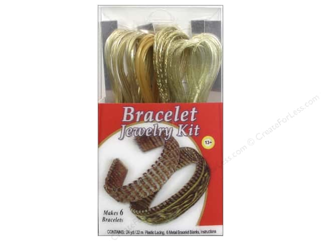 Pepperell Vinyl Craft Lace Jewelry Kit Bracelet Gold