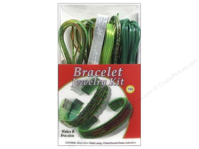 Pepperell Vinyl Craft Lace Jewelry Kit Bracelet Emerald