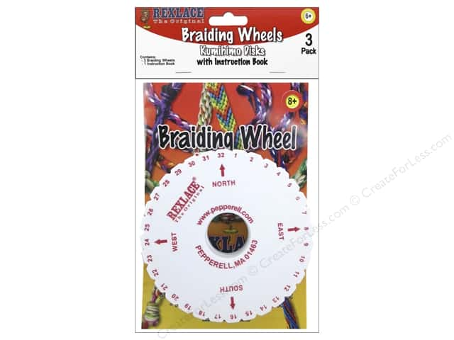 Pepperell Accessories Foam Braiding Wheel With Book