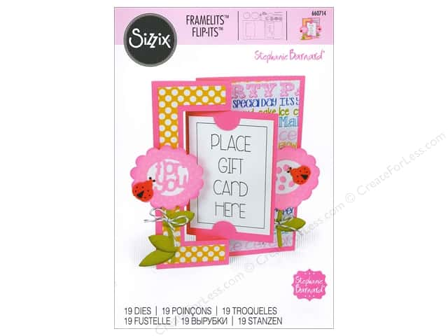 Sizzix Framelits Die Set 19 pc. Gift Card Flip-its Card
