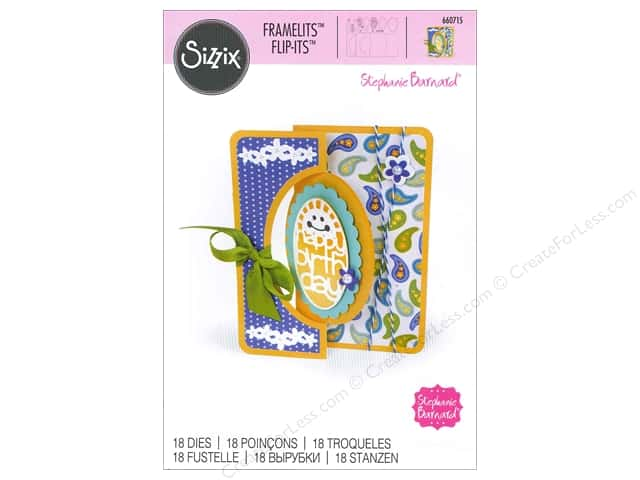 Sizzix Framelits Die Set 18 pc. Scallop Oval Flip-its Card