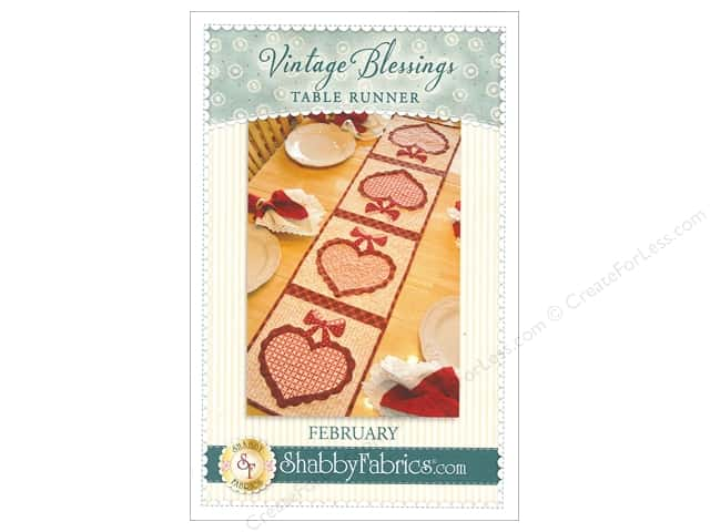 Shabby Fabrics Vintage Blessings February Table Runner Pattern