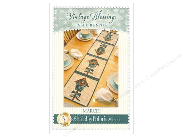 Shabby Fabrics Vintage Blessings March Table Runner Pattern