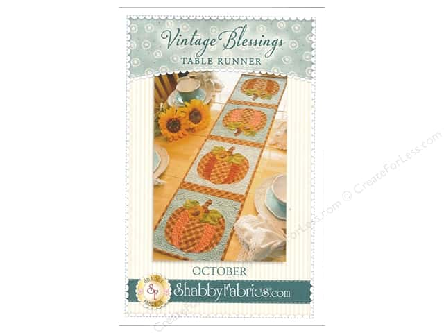 Shabby Fabrics Vintage Blessings October Table Runner Pattern