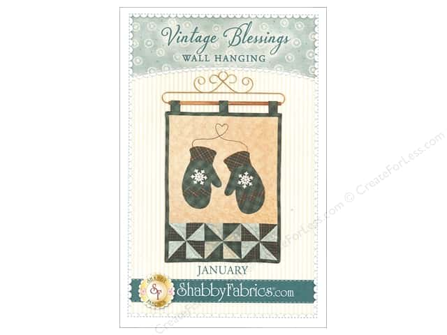 Shabby Fabrics Vintage Blessings January Wall Quilt Pattern
