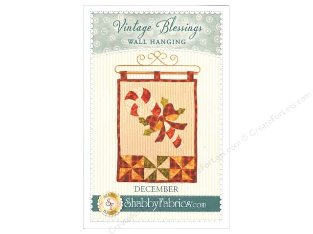 Shabby Fabrics Vintage Blessings December Wall Quilt Pattern