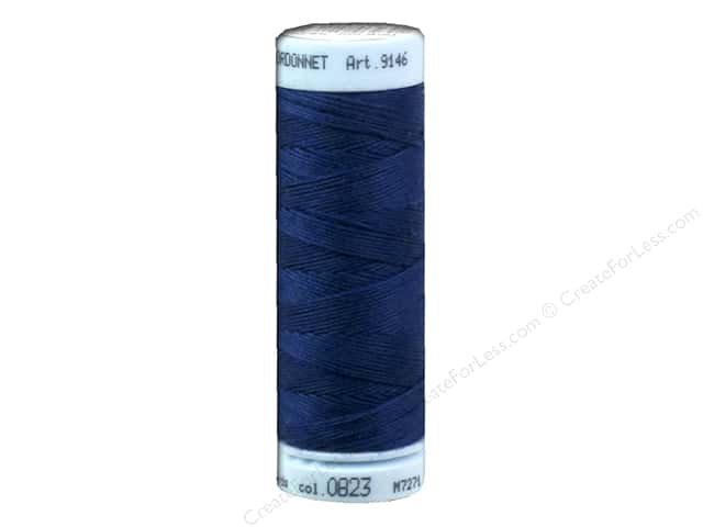 Mettler Metrosene Cordonnet Polyester Thread 30 wt. 55 yd. #823 Night Blue