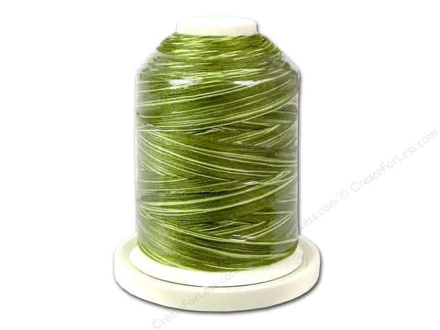 Signature 100% Cotton Thread 700 yd. #M84 Variegated Limey Greens
