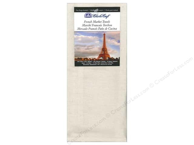Charles Craft French Market Towel 15 x 25 in. Light Natural