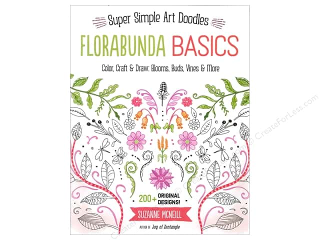 Design Originals Florabunda Basics Super Simple Art Doodles Book