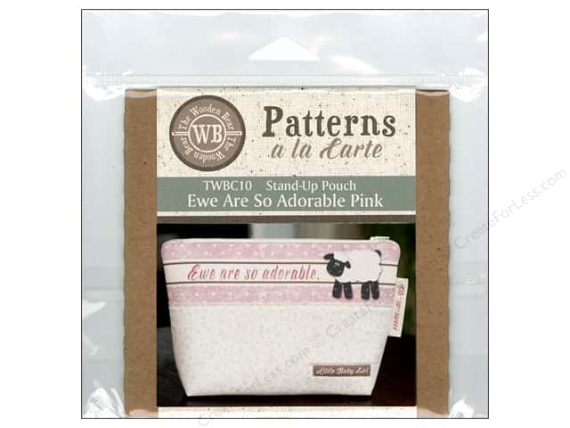 The Wooden Bear A La Carte Ewe Are So Adorable Pink CD Pattern
