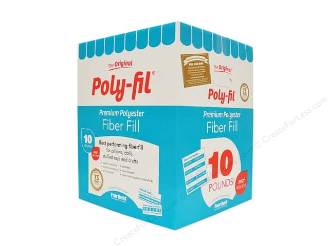 Fairfield Fiber Poly Fil Box 10 lb
