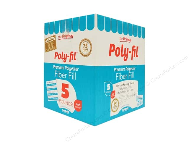 Fairfield Fiber Poly Fil Box 5lb
