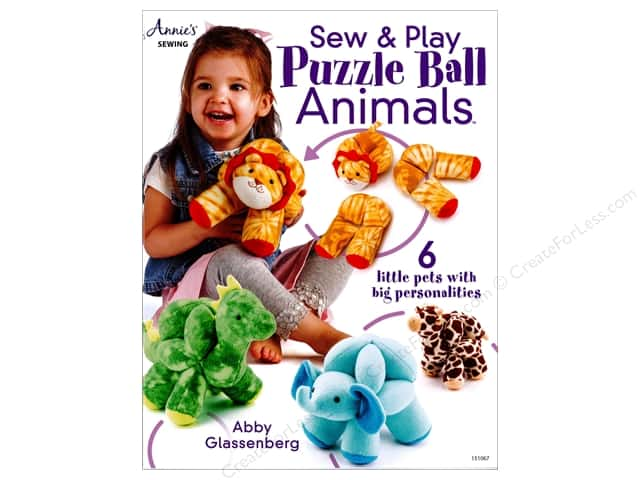 Sew & Play Puzzle Ball Animals Book by Abby Glassenberg