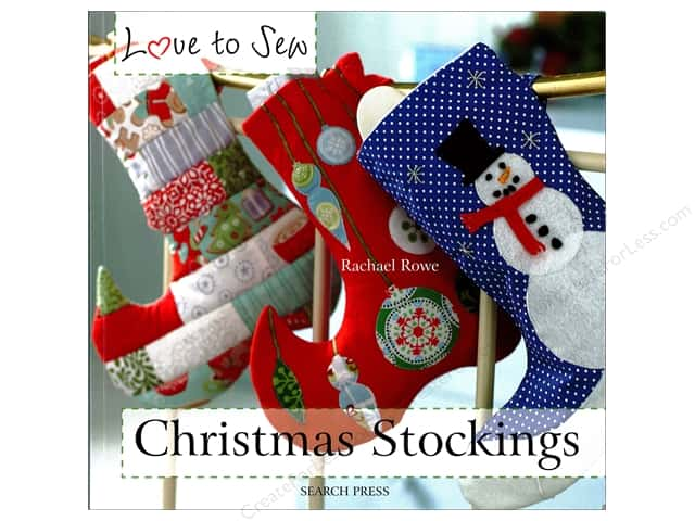 Search Press Love to Sew Christmas Stockings Book