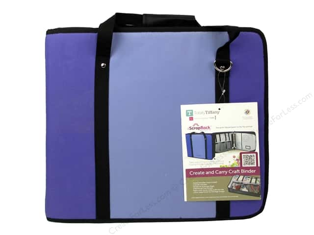 Totally Tiffany Organizers ScrapRack Create and Carry Craft Binder Purple/Lavender