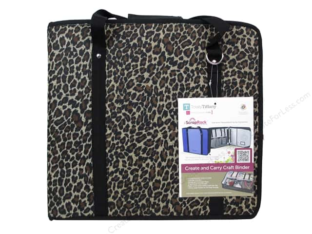 Totally Tiffany Organizers ScrapRack Create and Carry Craft Binder Print Animal