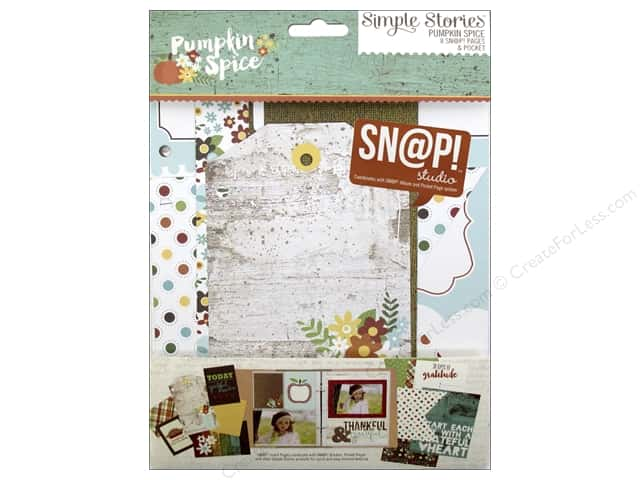 Simple Stories Pumpkin Spice Collection Snap Pages & Pocket
