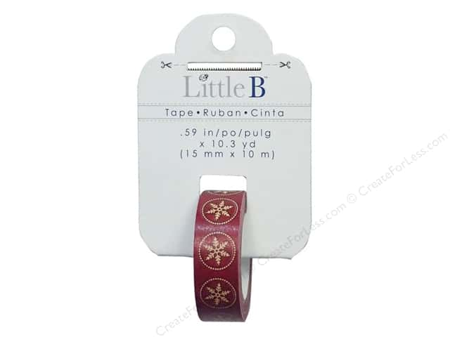 Little B Decorative Paper Tape 5/8 in. Stitched Snowflake