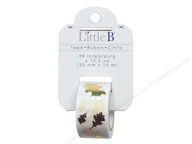 Little B Decorative Paper Tape 1 in. Gold Foil Autumn Leaves