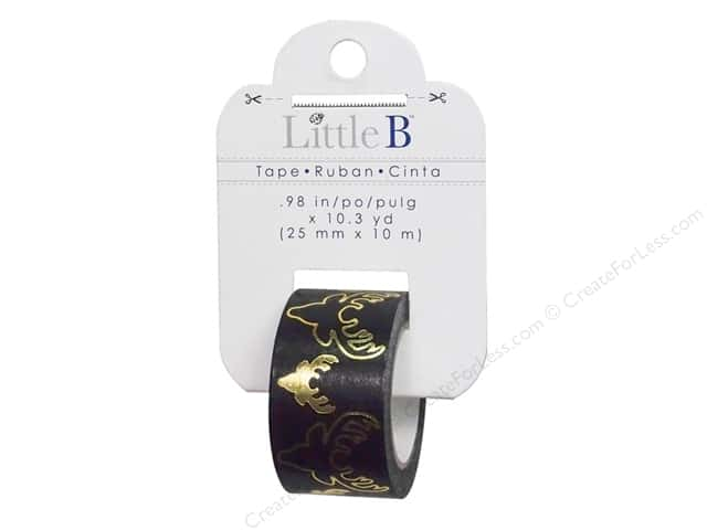 Little B Decorative Paper Tape 1 in. Gold Foil Bucks