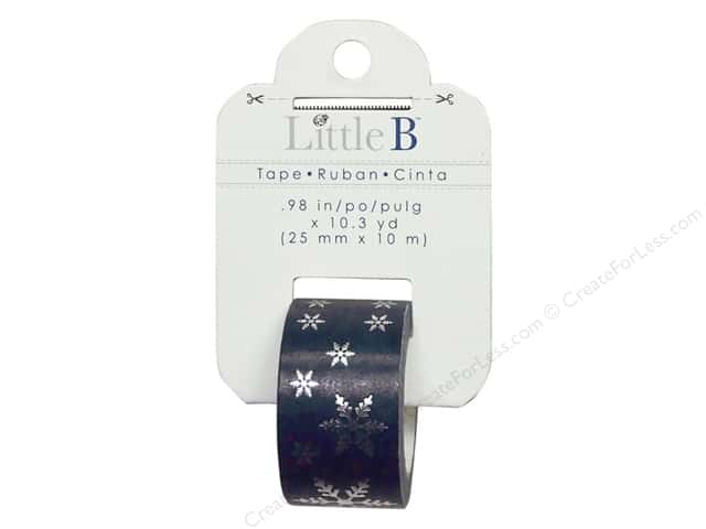 Little B Decorative Paper Tape 1 in. Silver Foil Snowflake