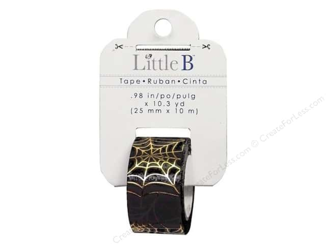 Little B Decorative Paper Tape 1 in. Gold Foil Spider Web
