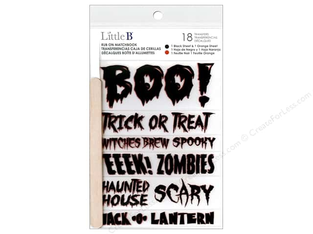 Little B Rub On Boo Halloween Phrases
