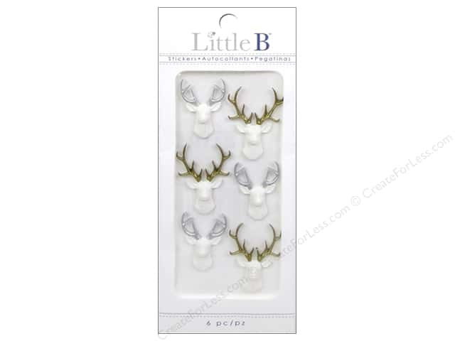 Little B Sticker Mini White Stags